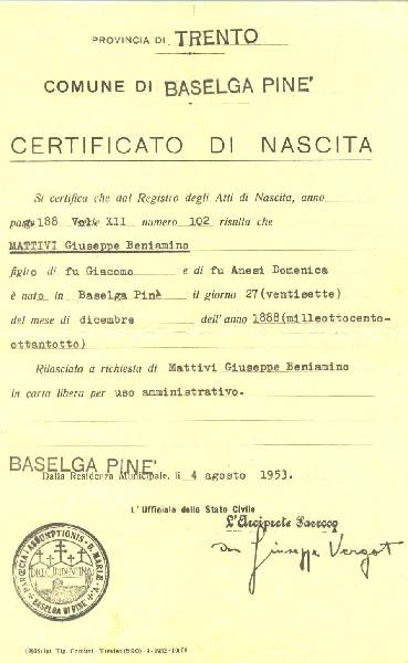 photo_album2/Ben Mattivi's Birth Certificate from Italy